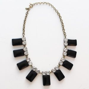 J Crew Black and Stone Statement Necklace
